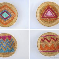 Painted Wicker Charger Plates