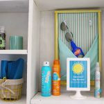 Sunscreen and Bug Spray Station | Free Printable! Create a sunscreen and bug spray station for daily family fun and entertaining | TodaysCreativeLife.com