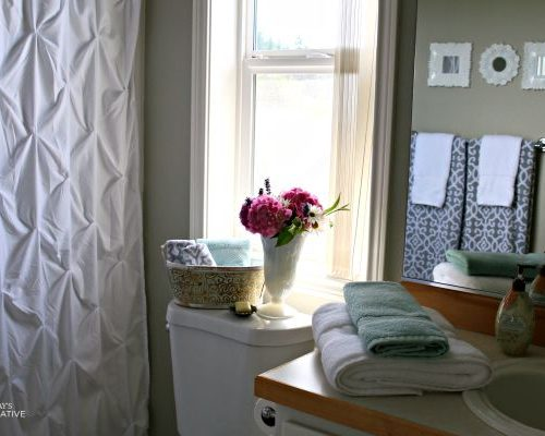 $110 Bathroom Update | Update and makeover your bathroom inexpensively. Bathroom Decorating ideas and more. on TodaysCreativeLife.com
