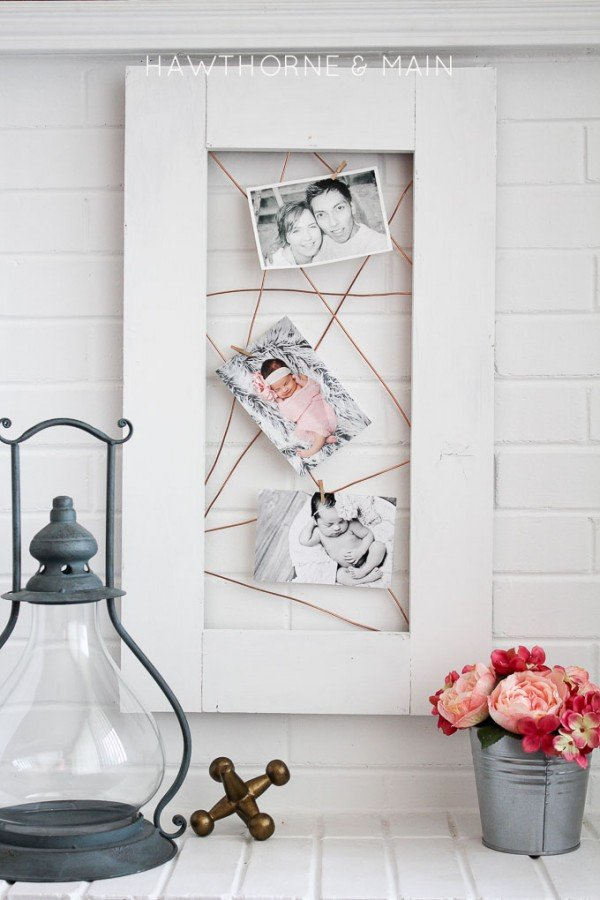 DIY Home Project - Copper Wire Photo Display by Hawthorne and Main for TodaysCreativeLife.com