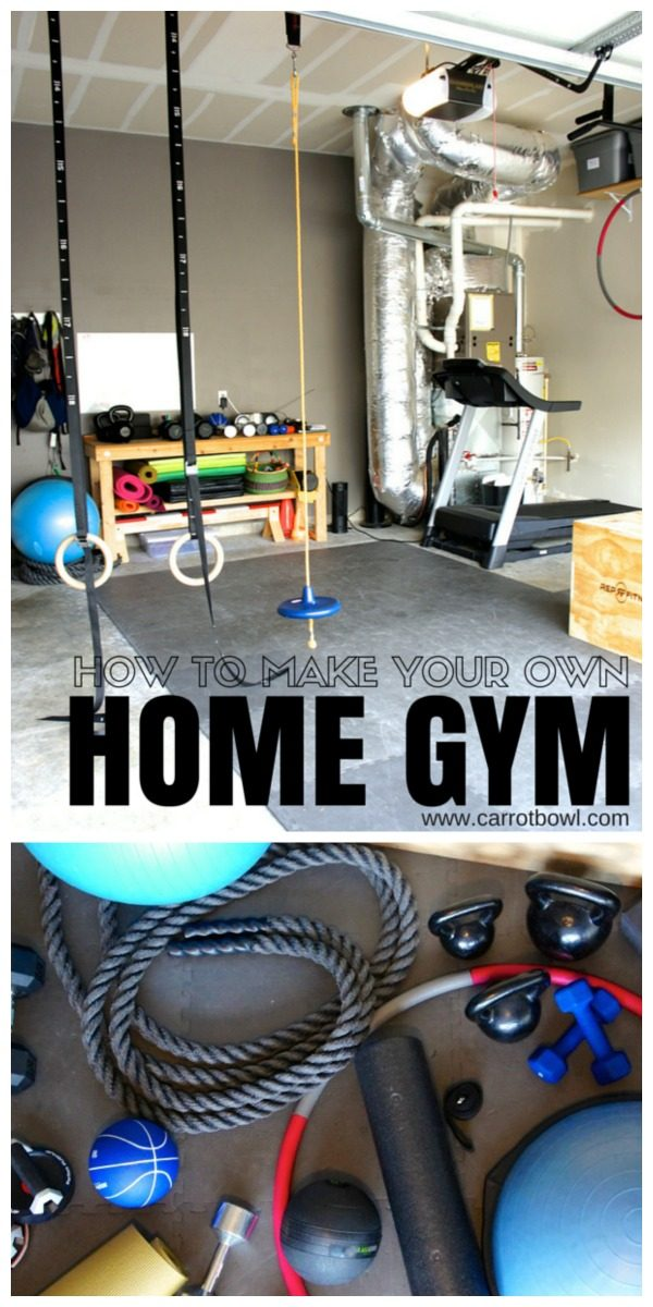 How to Make a Home Gym | Create your own workout space with these simple tips and suggestions | Home Workouts | Bonnie Weeks for TodaysCreativeLife.com