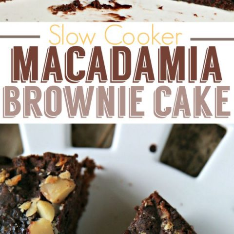 Slow Cooker Macadamia Brownie Cake