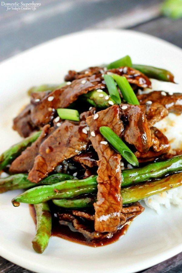 Chinese beef green beans stir fry todays creative life chinese beef green beans stir fry this quick and easy asian beef and green bean forumfinder Images