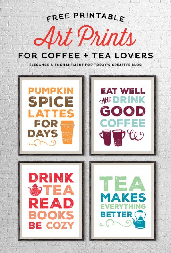 Free Printable Art Prints For Coffee And Tea Lovers