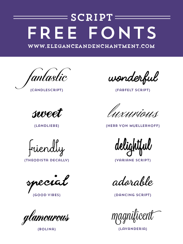 Elegance-and-Enchantment-Font-Favorites-Script