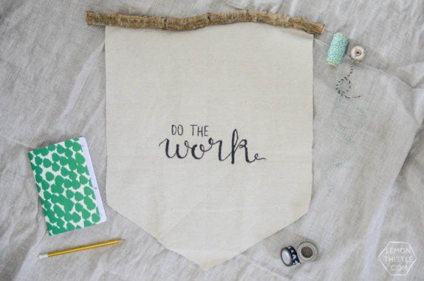 Do the Work DIY Wall Hanging - Click on the photo for the tutorial!