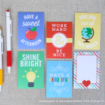 Free Printable Lunch Box Note Cards | Back to School Printables | See more creative ideas on TodaysCreativeLife.com