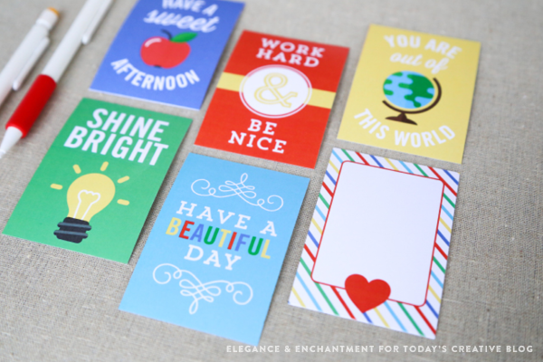 Printable Lunch Box Note Cards from TodaysCreativeLife.com