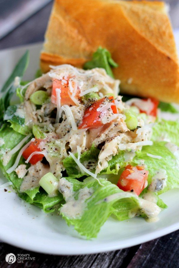 Slow Cooker Chicken Caesar Salad | Just one recipe from the Slow ...