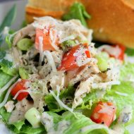 Slow Cooker Chicken Caesar Salad