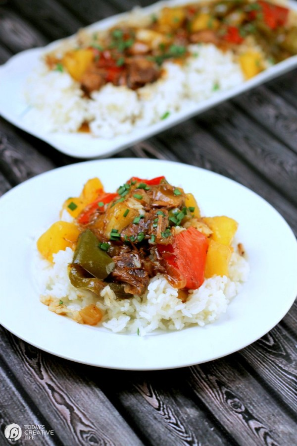 Slow Cooker Sweet and Sour Island Beef Recipe | Find more Slow Cooker Sunday Recipes great for easy dinners | TodaysCreativeLife.com