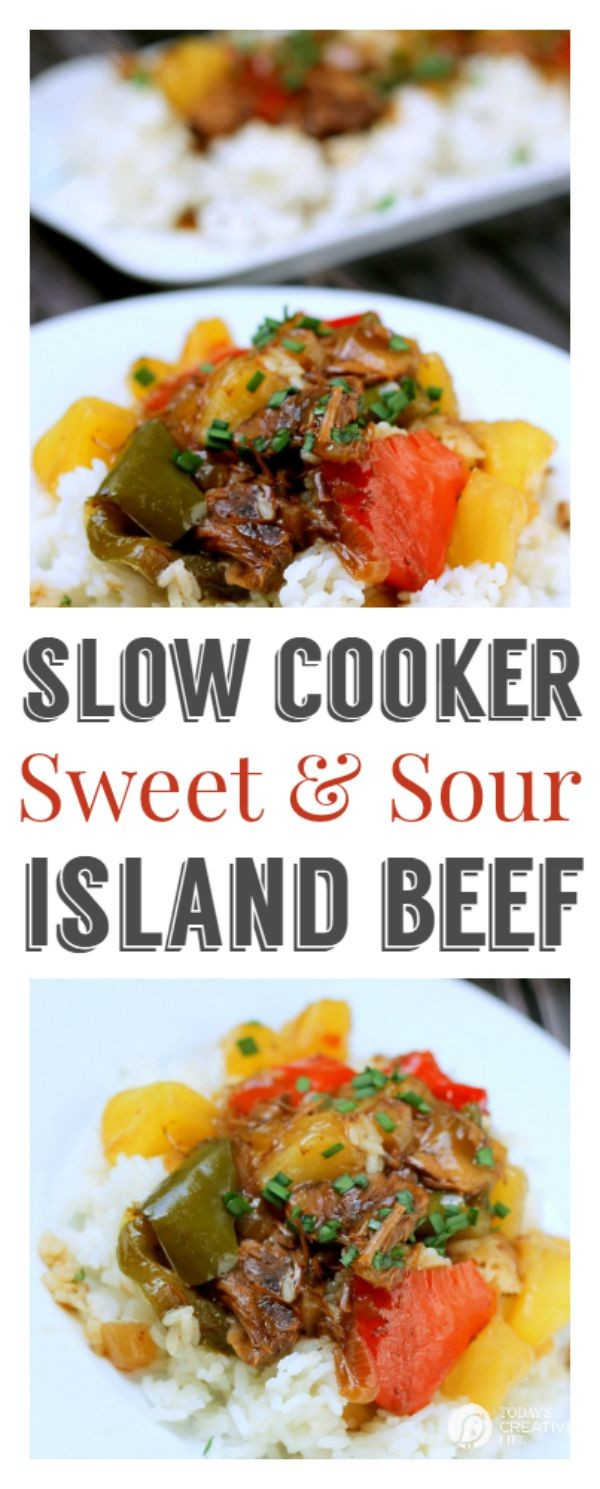 Slow Cooker Sweet And Sour Island Beef Recipe