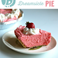 No Bake Strawberry Dreamsicle Pie