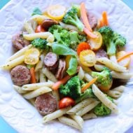 Healthy and delicious Pasta with vegetables | TodaysCreativeLife.com