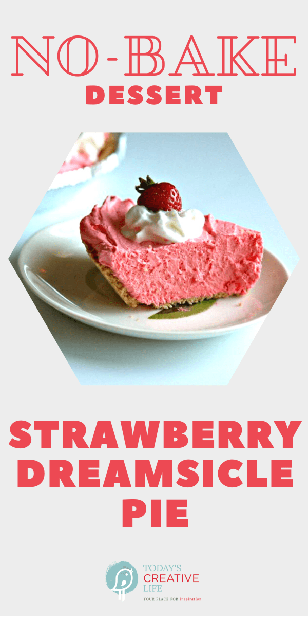 Photo collage for strawberry dreamsicle pie