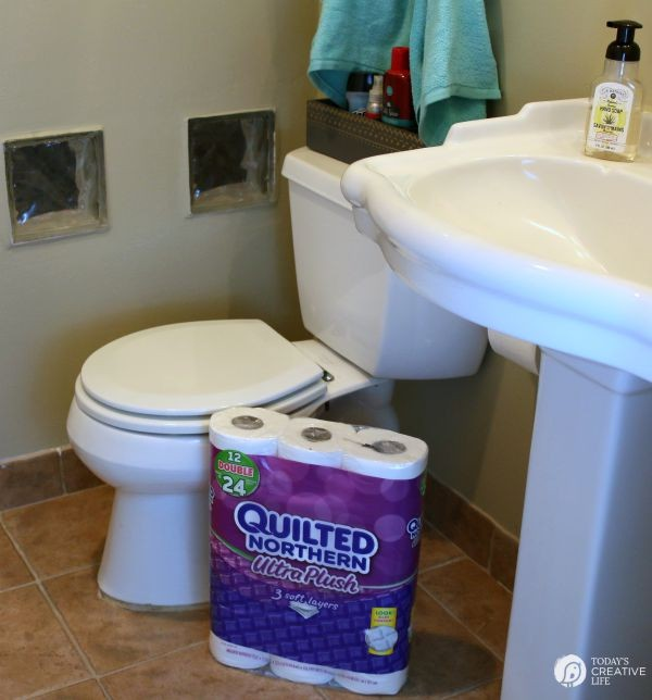 Designing a Bathroom for Teen Boys | Create a bathroom to meet both your needs. See more on TodaysCreativeLife.com