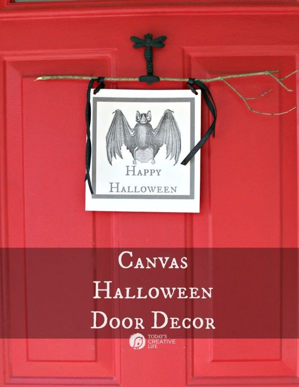 Canvas Halloween Door Decor TodaysCreativeLife.com