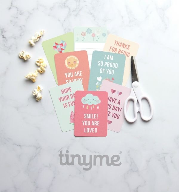 Free Printable Lunch Box Notes by tinyme.com for TodaysCreativeLife.com | Download your free printable lunch box notes. Send a sweet message to your kids!