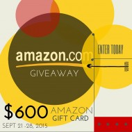 $600 Amazon Gift Card Giveaway!