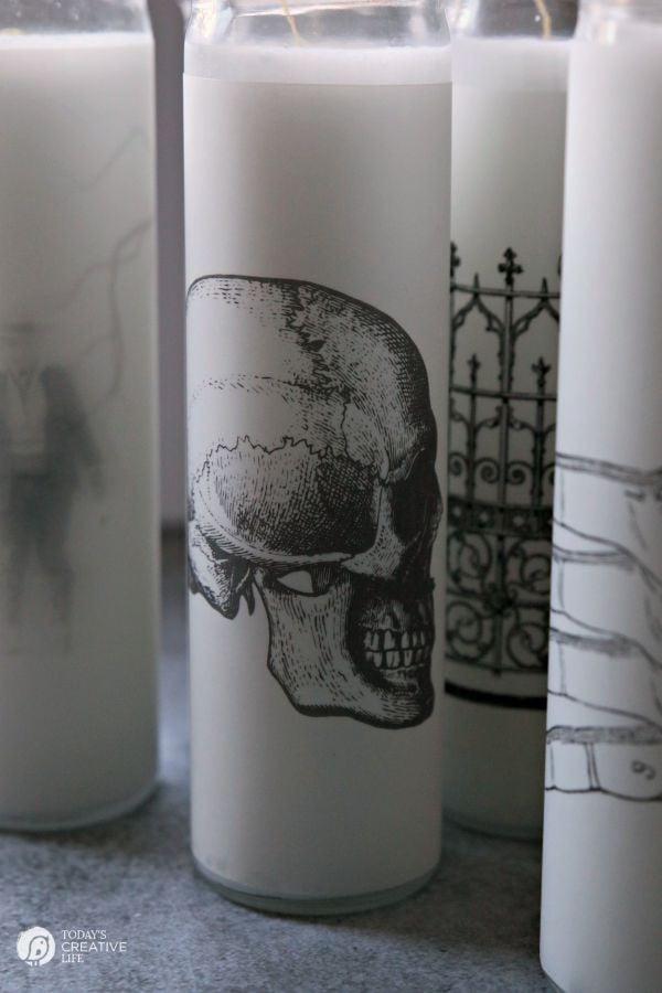 Easy Spooky DIY HAlloween Candles | todayscreativelife.com