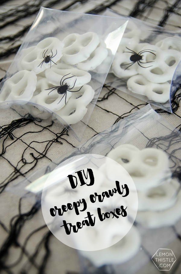 DIY Creepy Crawly Treat Boxes for Halloween