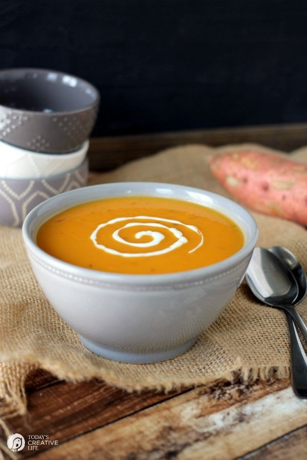 Sweet Potato Soup on TodaysCreativeLife.com