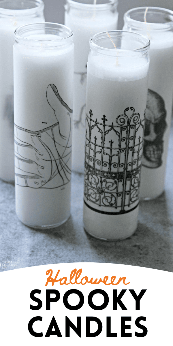 A group of Halloween Candles for Decoration