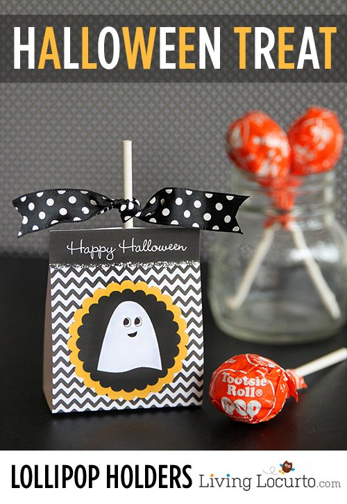 Free Printable Lollypop holder from Living Locurto