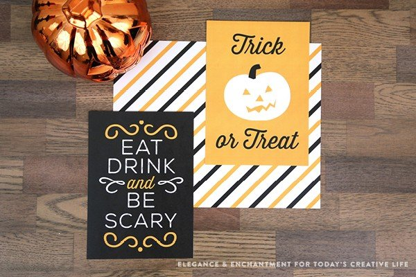Free Printable Halloween Prints and Signs designed by Elegance and Enchantment for TodaysCreativeLife.com | Easy decorating ideas for Halloween. Find your free download on TodaysCreativeLIfe.com