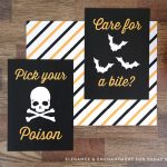 FREE Printable Halloween Prints and Signs for easy Halloween Decorating | See TodaysCreativeLife.com