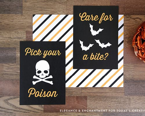 FREE Printable Halloween Prints and Signs for easy Halloween Decorating   See TodaysCreativeLife.com