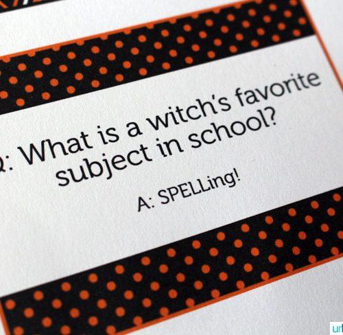 Free Halloween Printables: Halloween Lunch Notes   Find more fun Halloween printables on TodaysCreativeLife.com   Halloween Ideas, Halloween Recipes and Halloween Decor.