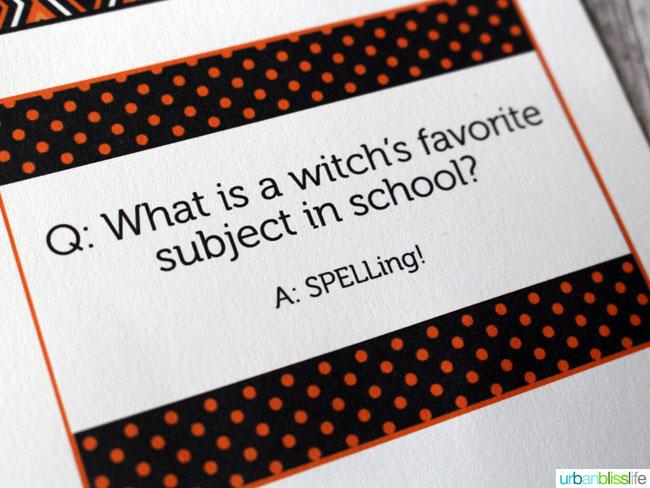 Free Halloween Printables: Halloween Lunch Notes | Find more fun Halloween printables on TodaysCreativeLife.com | Halloween Ideas, Halloween Recipes and Halloween Decor.