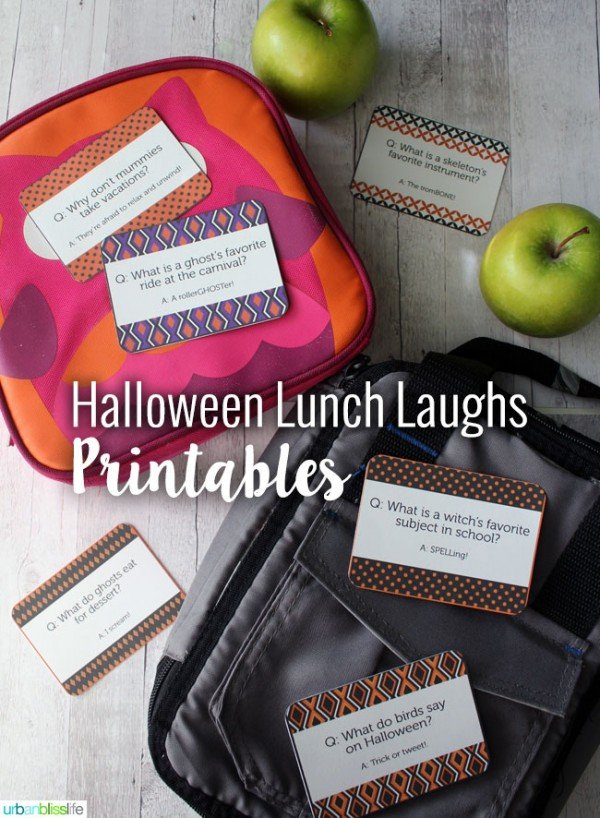 Free Halloween Printables: Halloween Lunch Notes | Find more fun Halloween printables on TodaysCreativeLife.com | Halloween Ideas, Halloween Recipes and Halloween Decor.