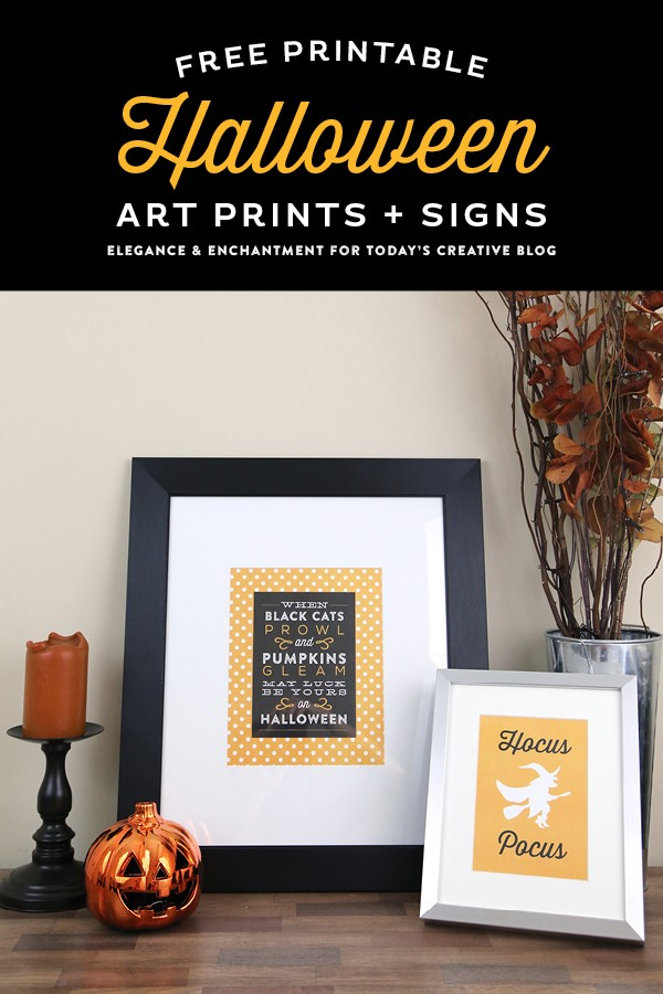 Free Printable Halloween Art Prints and Signs