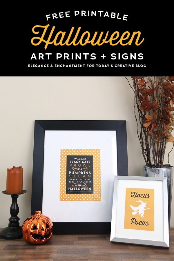 Printable Vertical Halloween Sign by Today's Creative Life