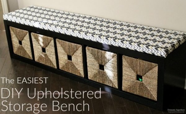 the easiest diy upholstered bench easy diy home projects are the best make extra