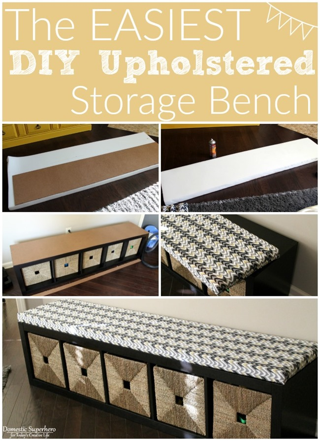 the easiest diy upholstered bench today