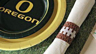 Printable Football Napkin Rings