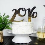 DIY 2016 Cake and Drink Toppers by LemonThistle for TodaysCreativeLife.com | Ring in the new year with edible glitter and your Cricut Explore! See the full tutorial on TodaysCreativeLife.com