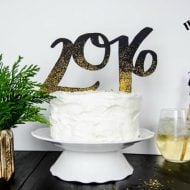 DIY 2016 Cake and Drink Toppers