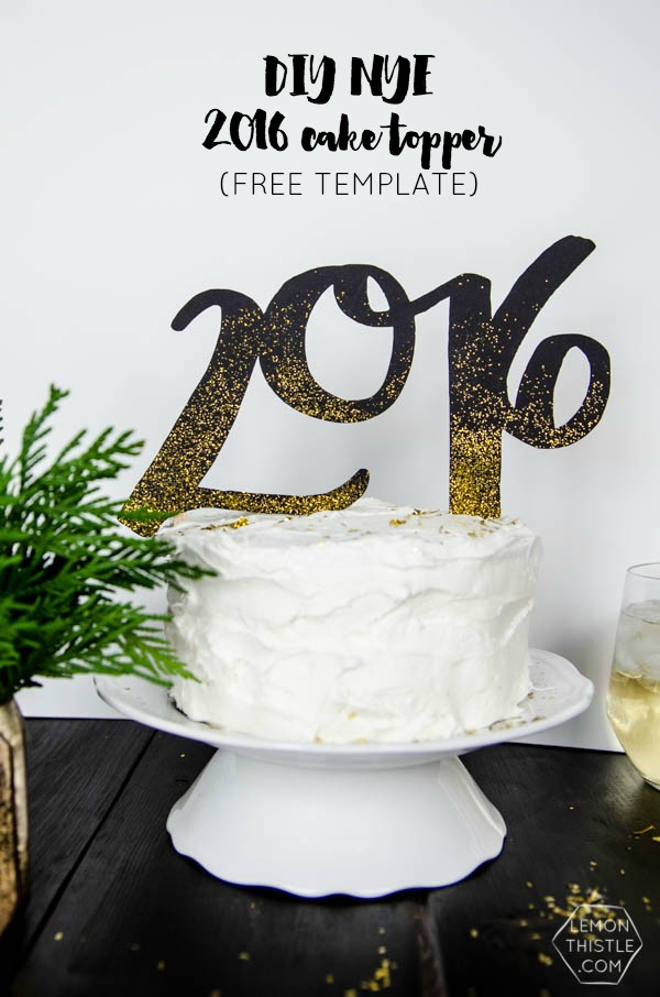Diy 2016 cake and drink toppers today 39 s creative life Are we going to get snow this year 2016