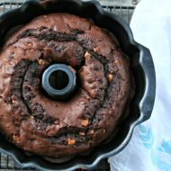 Chocolate Peanut Butter Chip Bundt Cake