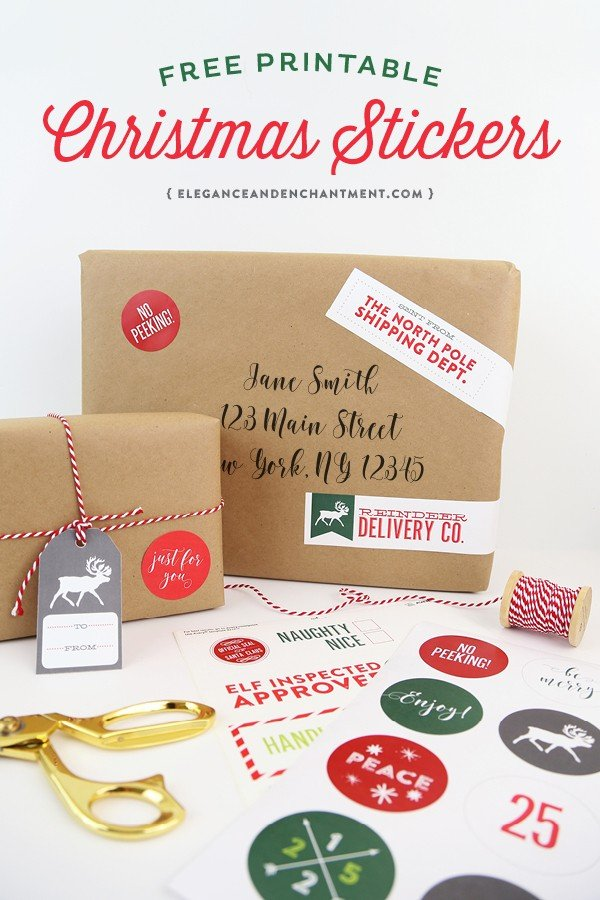 Free Printable Christmas Gift Tags | Today\'s Creative Life
