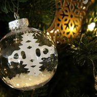 DIY Floating Snowflake Christmas Ornament