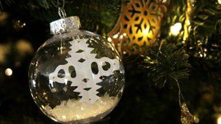 DIY Floating Snowflake Christmas Ornament