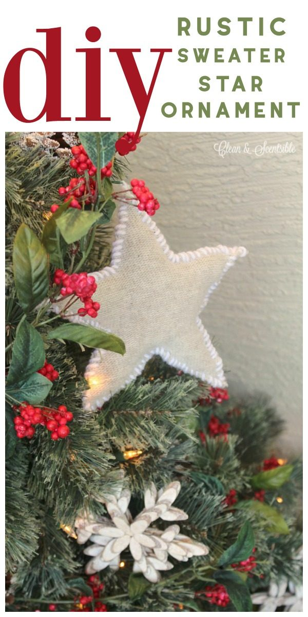 DIY Rustic Sweater Ornament | Made from an old sweater. Easy to make holiday Christmas ornaments. TodaysCreativeLife.com