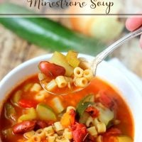 Slow Cooker Minestrone Soup