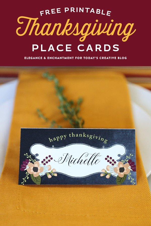 Free Printable Thanksgiving Place Cards | Make Thanksgiving entertaining easy! Decorate an easy Thanksgiving Table with these free printables. Get your free download on TodaysCreativeLife.com