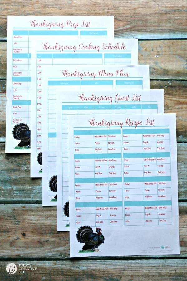 Thanksgiving Prep Printables